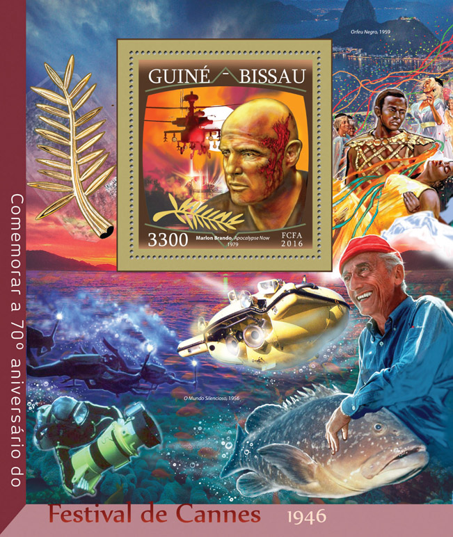 Cannes film festival - Issue of Guinée-Bissau postage stamps