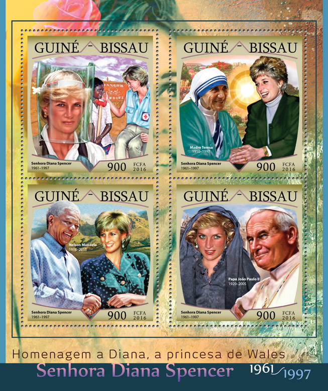 Lady Diana - Issue of Guinée-Bissau postage stamps