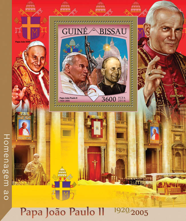 Tribute to John Paul II - Issue of Guinée-Bissau postage stamps