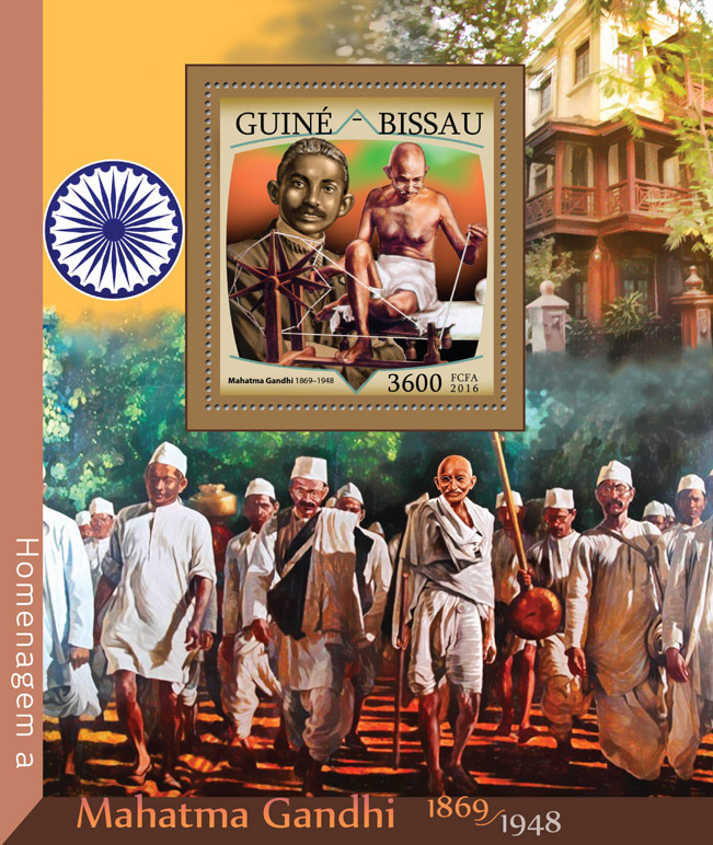 Mahatma Gandhi - Issue of Guinée-Bissau postage stamps