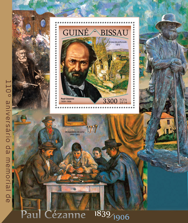 Paul Cezanne - Issue of Guinée-Bissau postage stamps