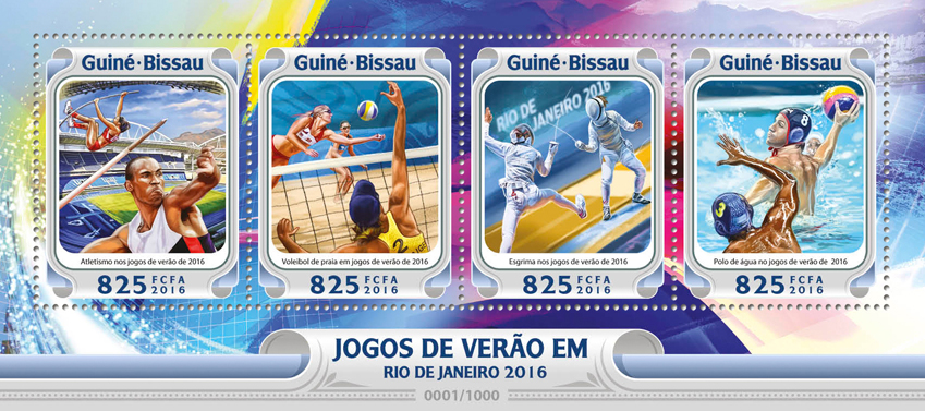 Rio 2016 - Issue of Guinée-Bissau postage stamps