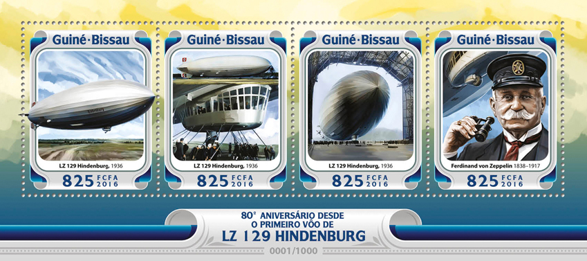 Zeppelin - Issue of Guinée-Bissau postage stamps