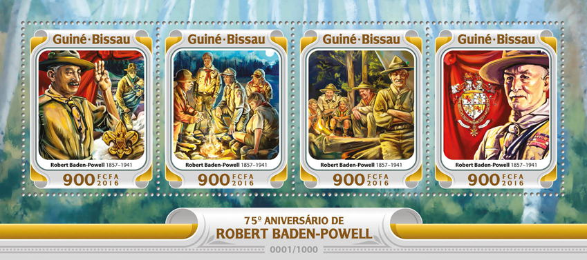 Robert Baden - Powel - Issue of Guinée-Bissau postage stamps