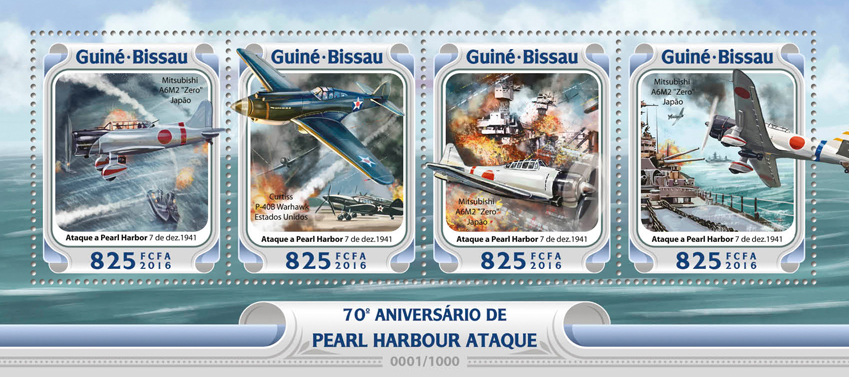 Pearl Harbor - Issue of Guinée-Bissau postage stamps
