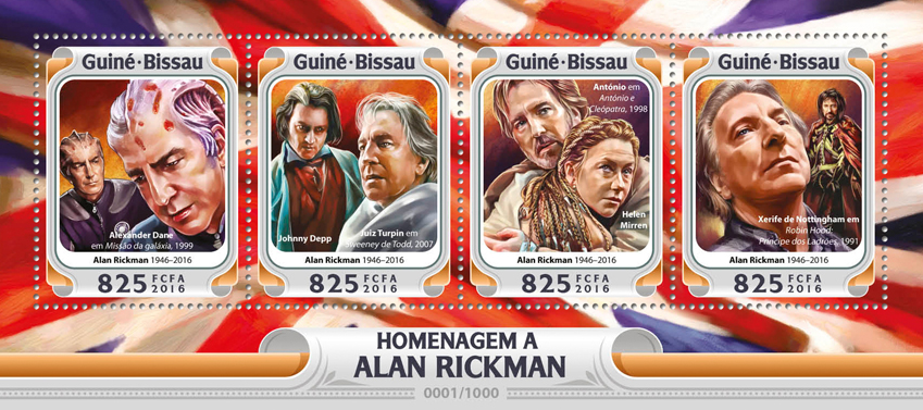 Alan Rickman - Issue of Guinée-Bissau postage stamps