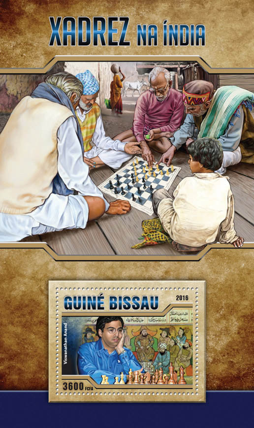 Chess - Issue of Guinée-Bissau postage stamps