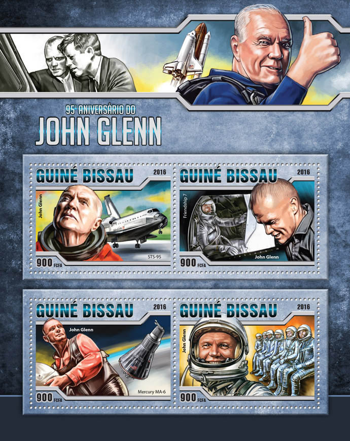 John Glenn - Issue of Guinée-Bissau postage stamps