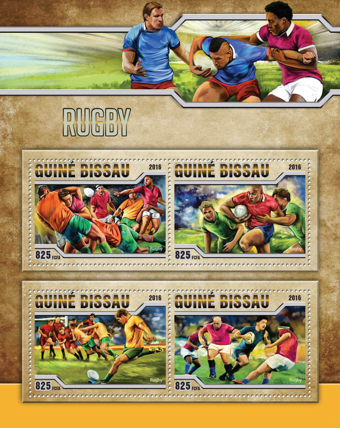 Rugby - Issue of Guinée-Bissau postage stamps