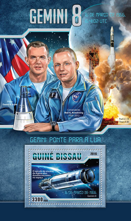 GEMINI 8 - Issue of Guinée-Bissau postage stamps