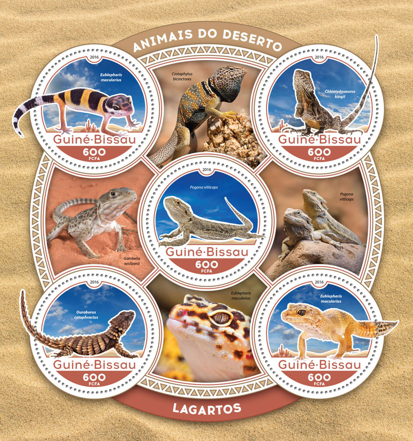 Lizards - Issue of Guinée-Bissau postage stamps