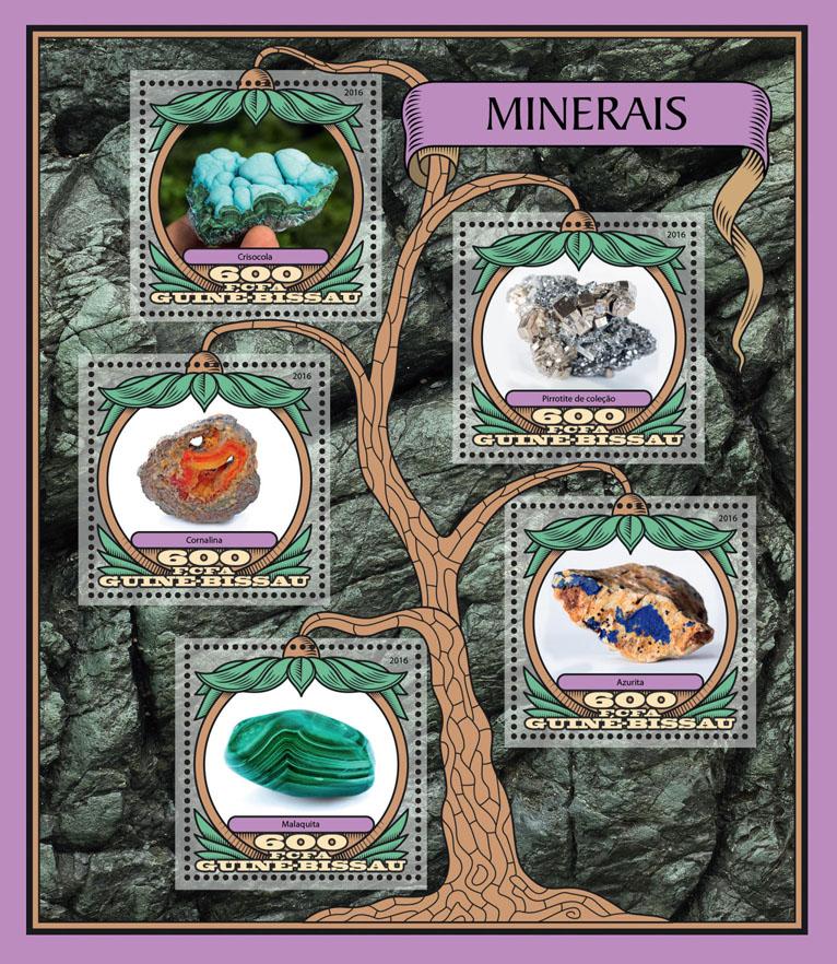 Minerals - Issue of Guinée-Bissau postage stamps