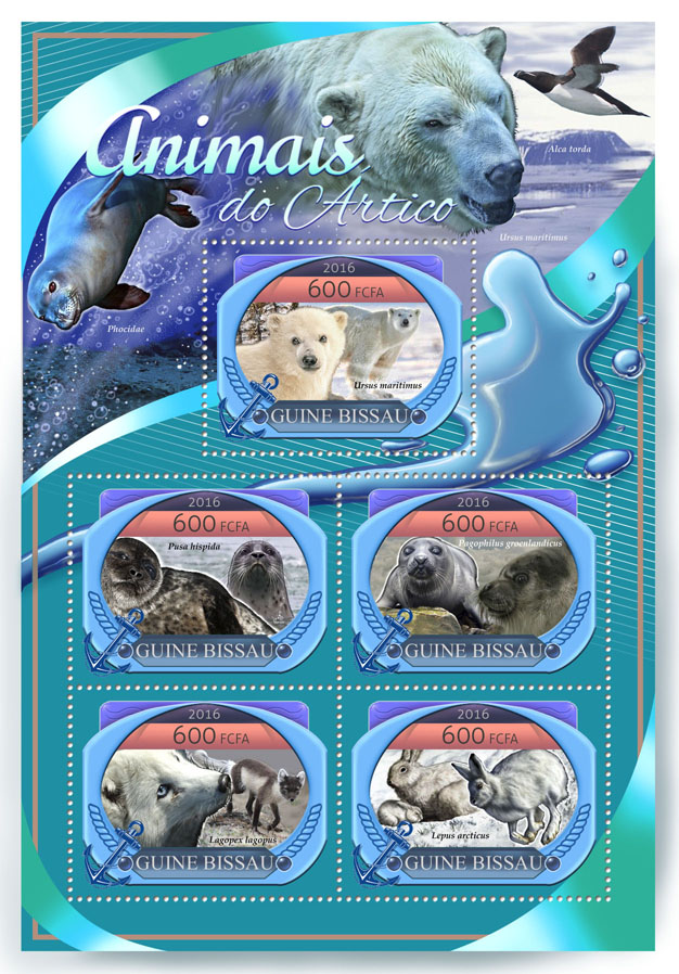Arctic animals - Issue of Guinée-Bissau postage stamps