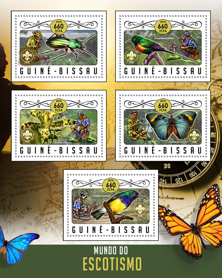 Scounting - Issue of Guinée-Bissau postage stamps