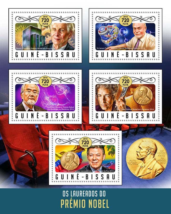 Nobel prize - Issue of Guinée-Bissau postage stamps