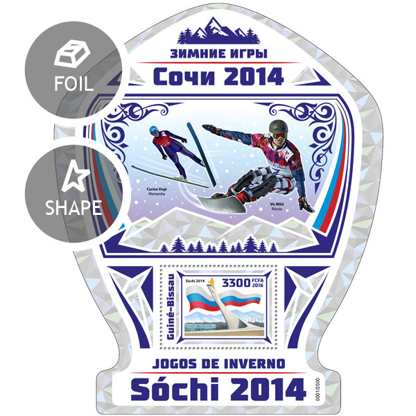 Sochi Winter Games - Issue of Guinée-Bissau postage stamps
