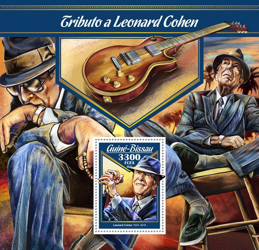 Leonard Cohen - Issue of Guinée-Bissau postage stamps