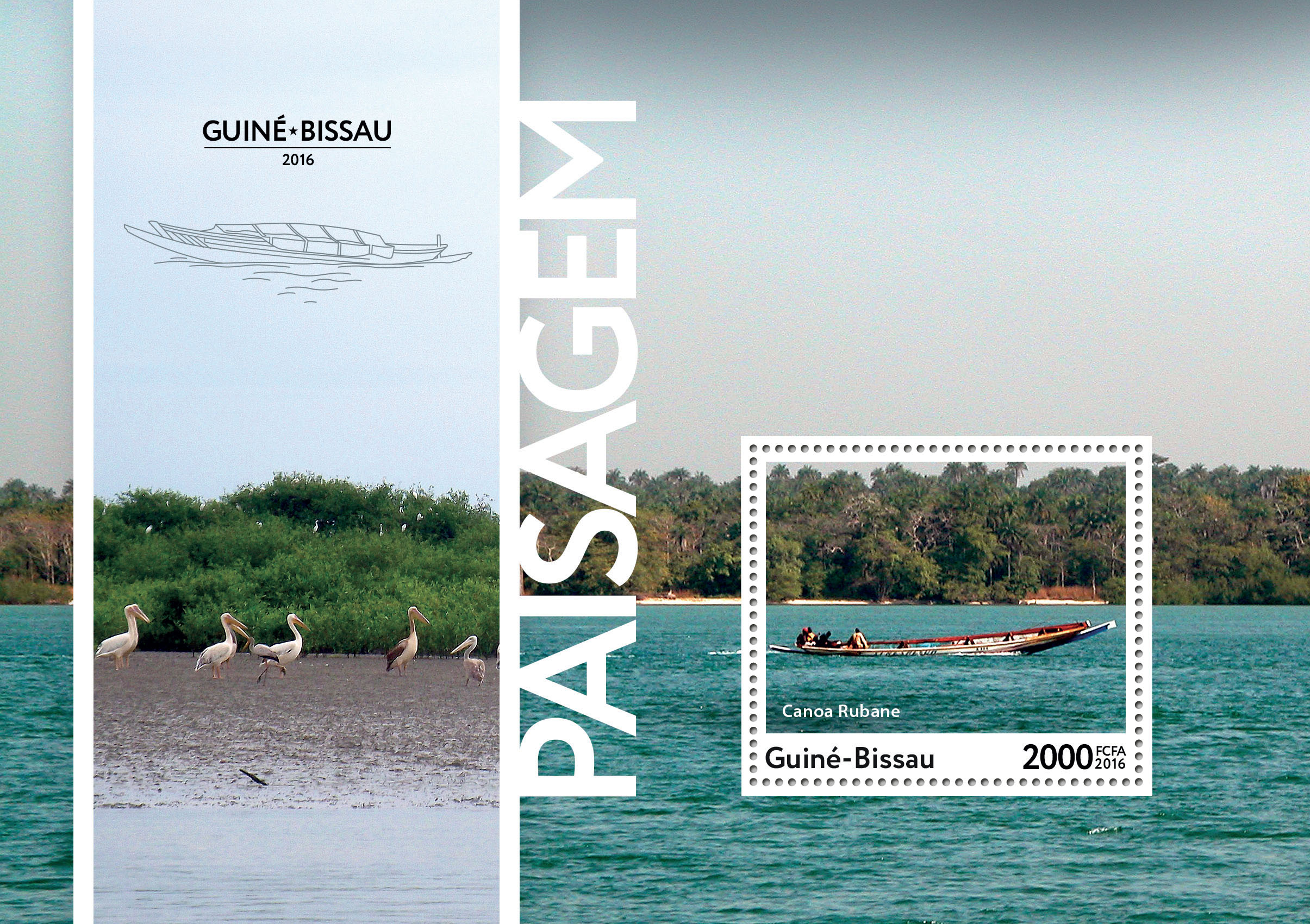 Landscapes s/s - Issue of Guinée-Bissau postage stamps