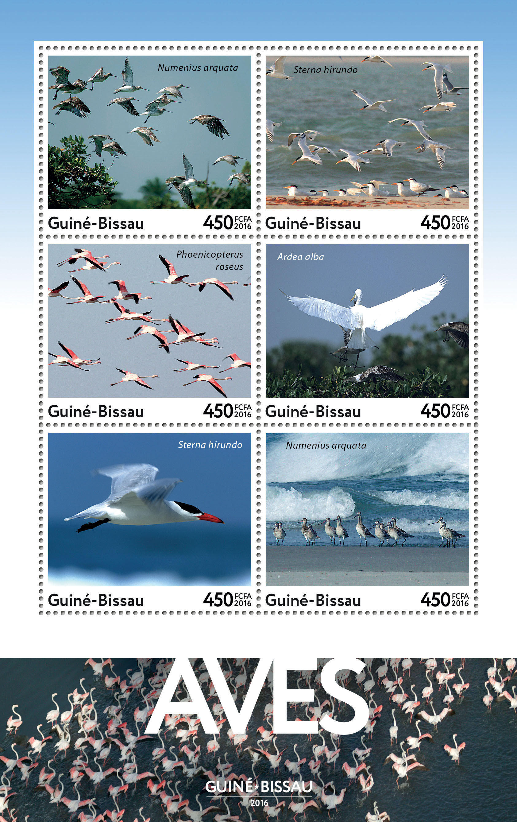 Birds 6v - Issue of Guinée-Bissau postage stamps