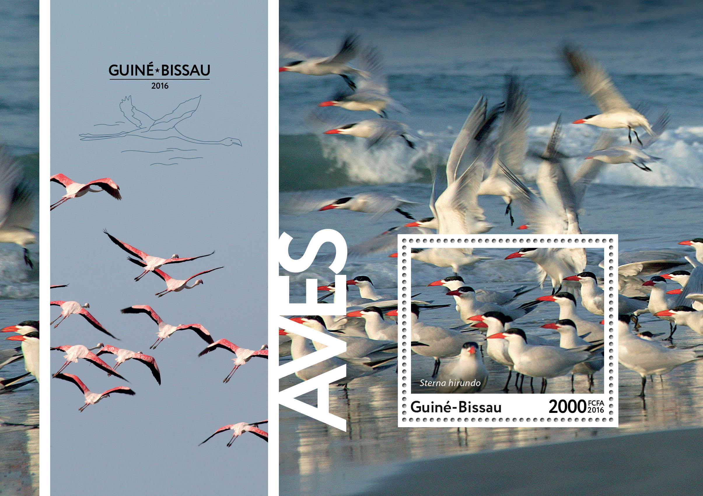 Birds s/s - Issue of Guinée-Bissau postage stamps