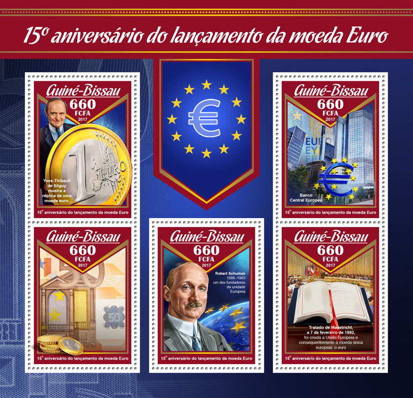 Euro currency - Issue of Guinée-Bissau postage stamps