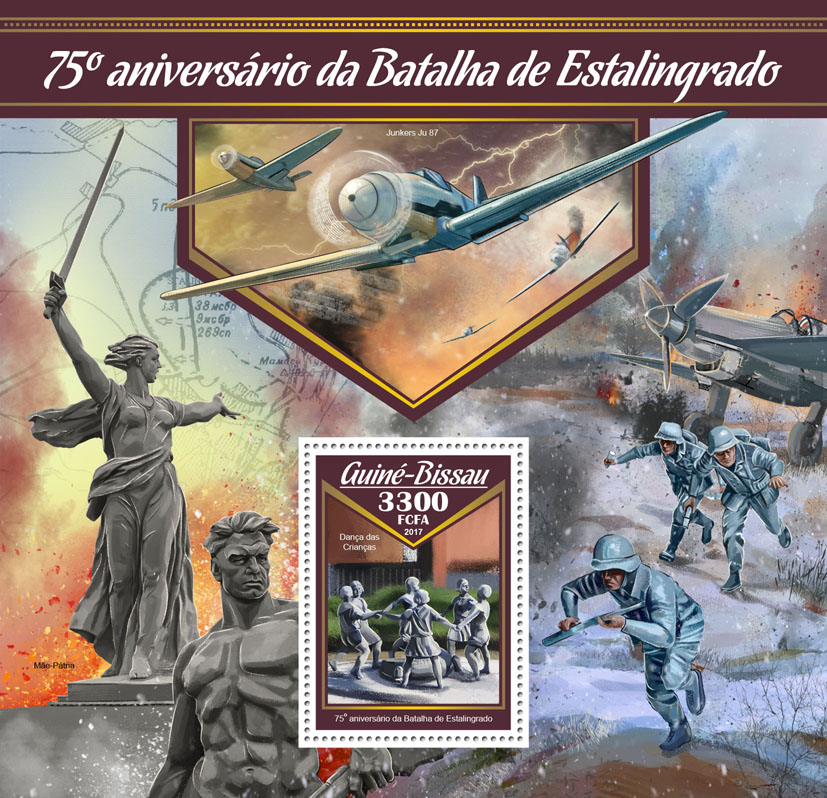 Battle of Stalingrad - Issue of Guinée-Bissau postage stamps