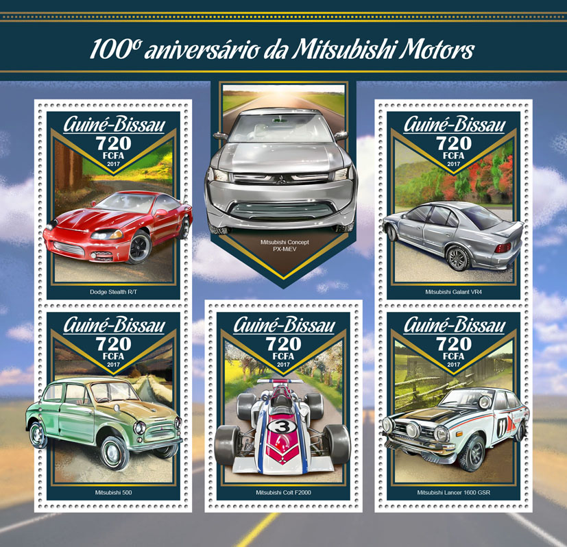 Mitsubishi Motors - Issue of Guinée-Bissau postage stamps