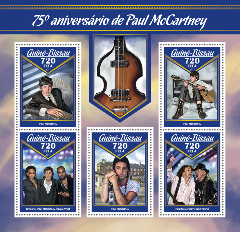 James Paul McCartney - Issue of Guinée-Bissau postage stamps