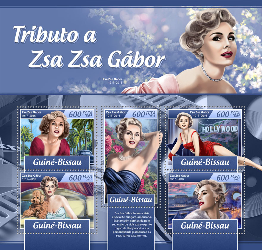 Zsa Zsa Gabor - Issue of Guinée-Bissau postage stamps