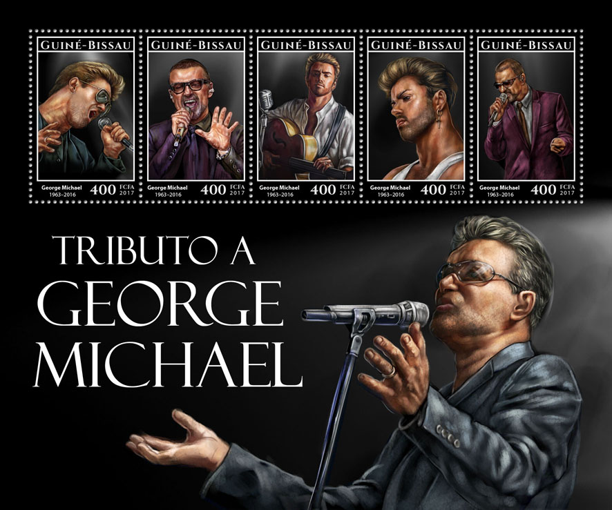 George Michael - Issue of Guinée-Bissau postage stamps