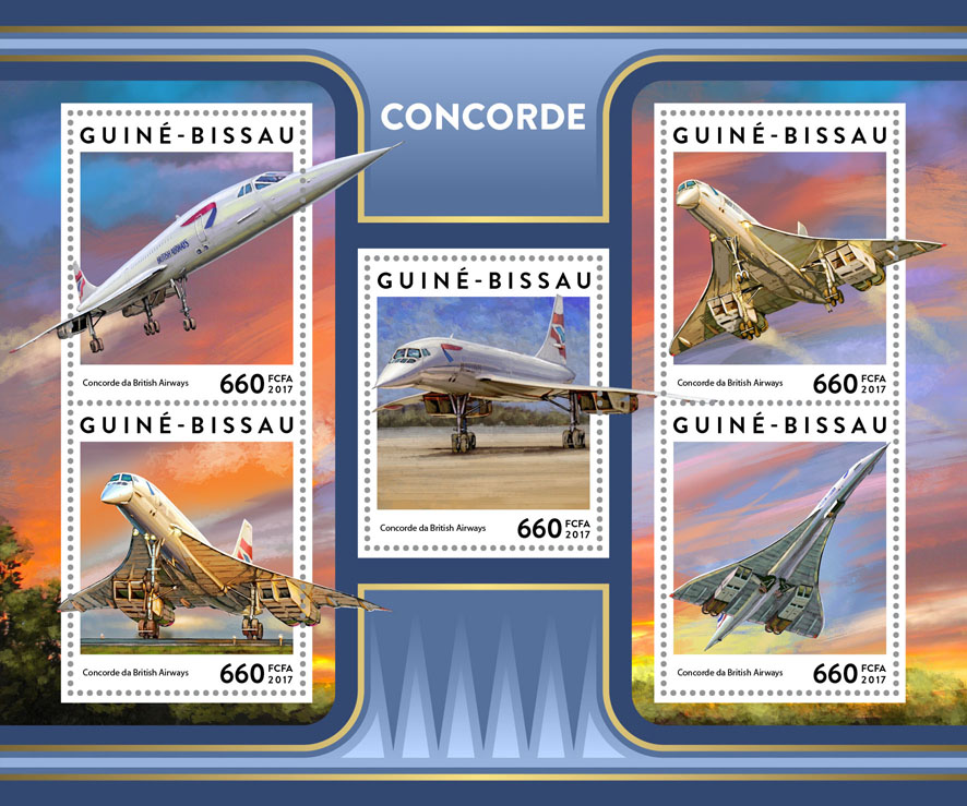 Concorde - Issue of Guinée-Bissau postage stamps