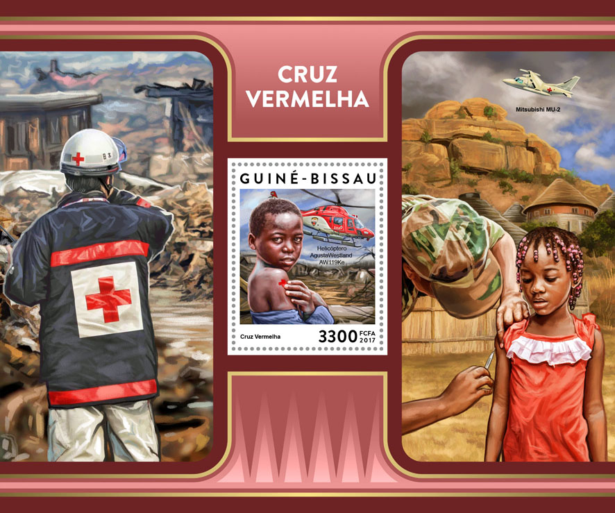 Red Cross - Issue of Guinée-Bissau postage stamps