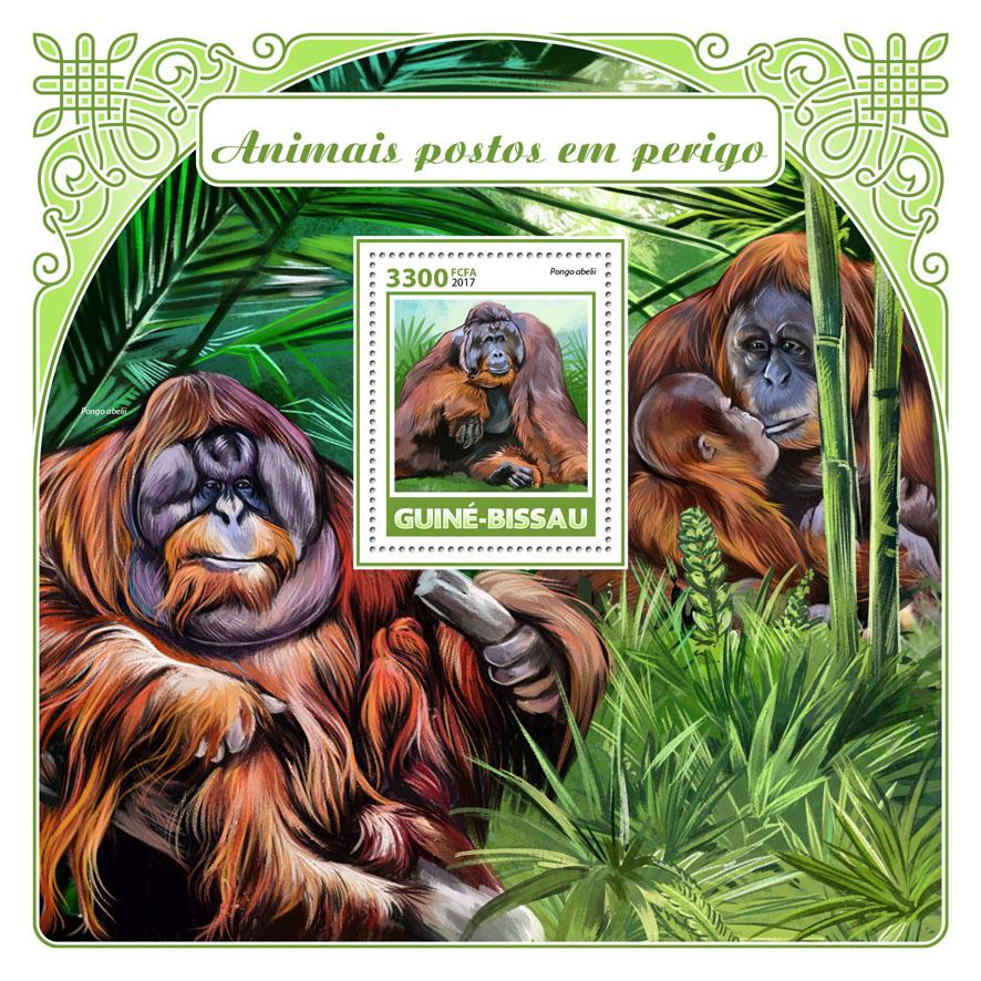 Endangered species - Issue of Guinée-Bissau postage stamps