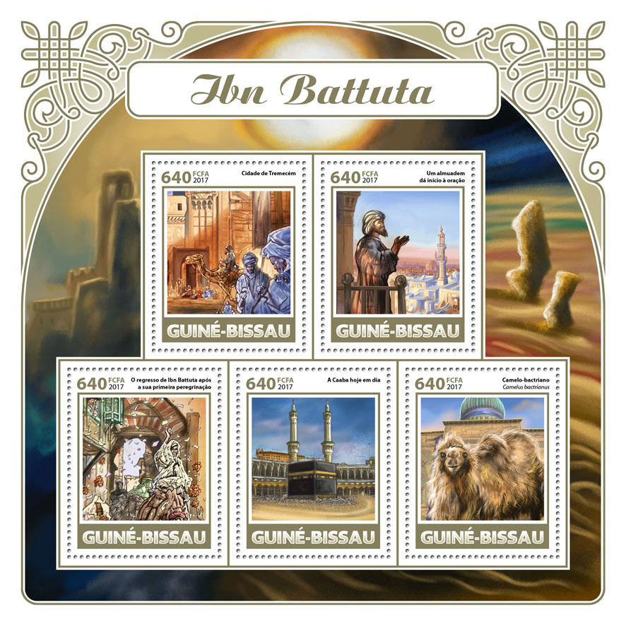 Ibn Battuta - Issue of Guinée-Bissau postage stamps