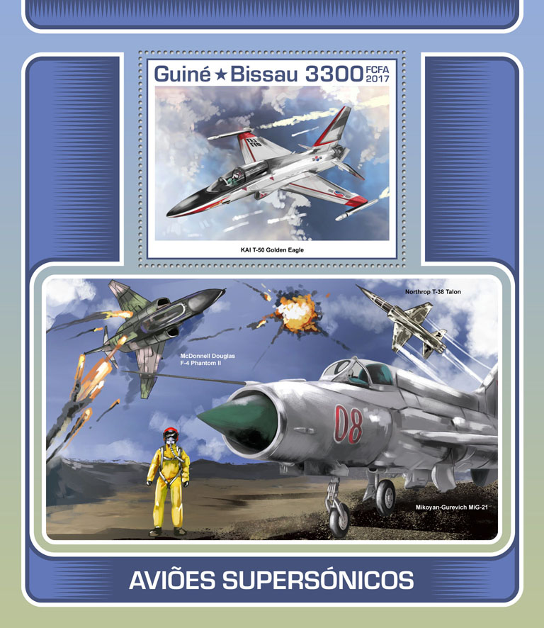 Supersonic aircraft - Issue of Guinée-Bissau postage stamps