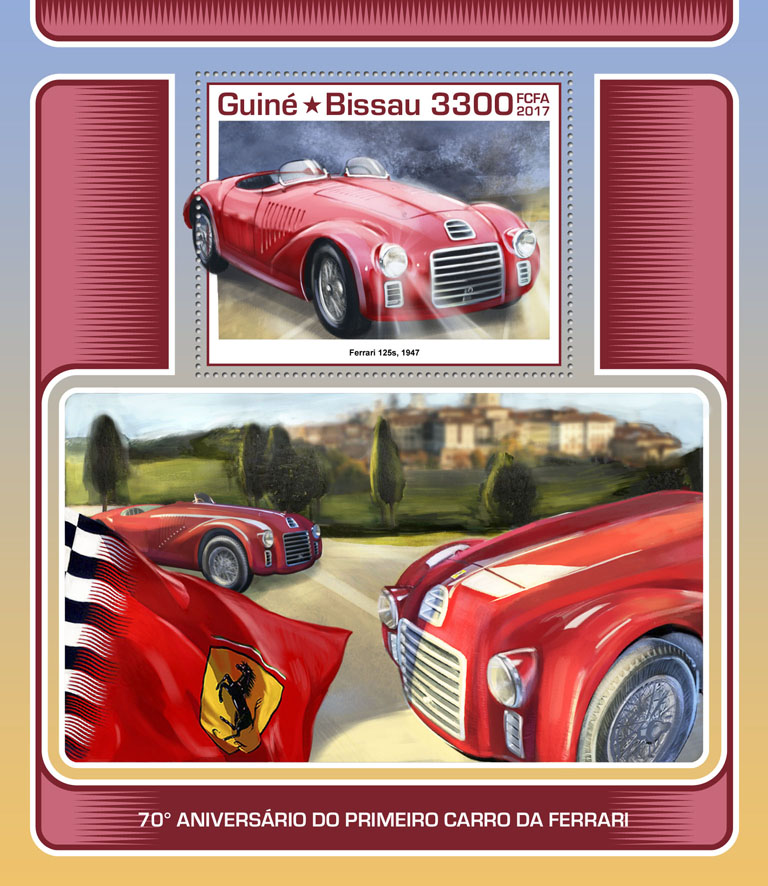 Ferrari - Issue of Guinée-Bissau postage stamps
