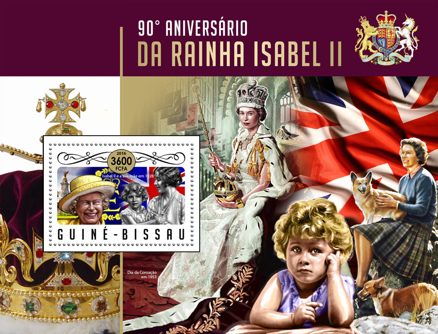 Queen Elizabeth II - Issue of Guinée-Bissau postage stamps
