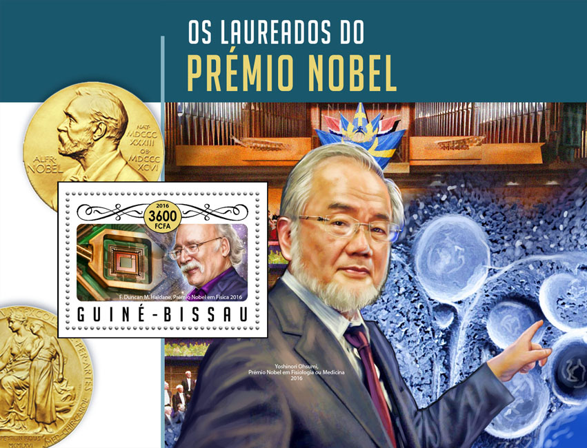 Nobel prize - Issue of Guinée-Bissau postage stamps