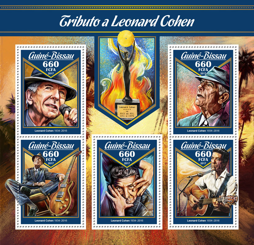 Leonard Cohen - Issue of Guinée-Bissau postage stamps