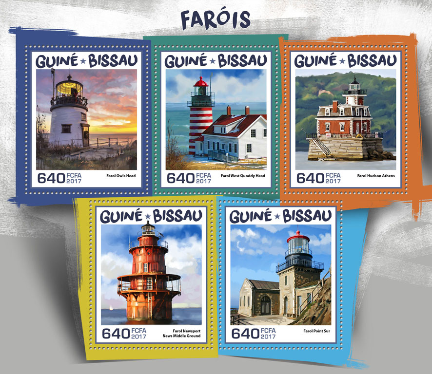 Lighthouse - Issue of Guinée-Bissau postage stamps