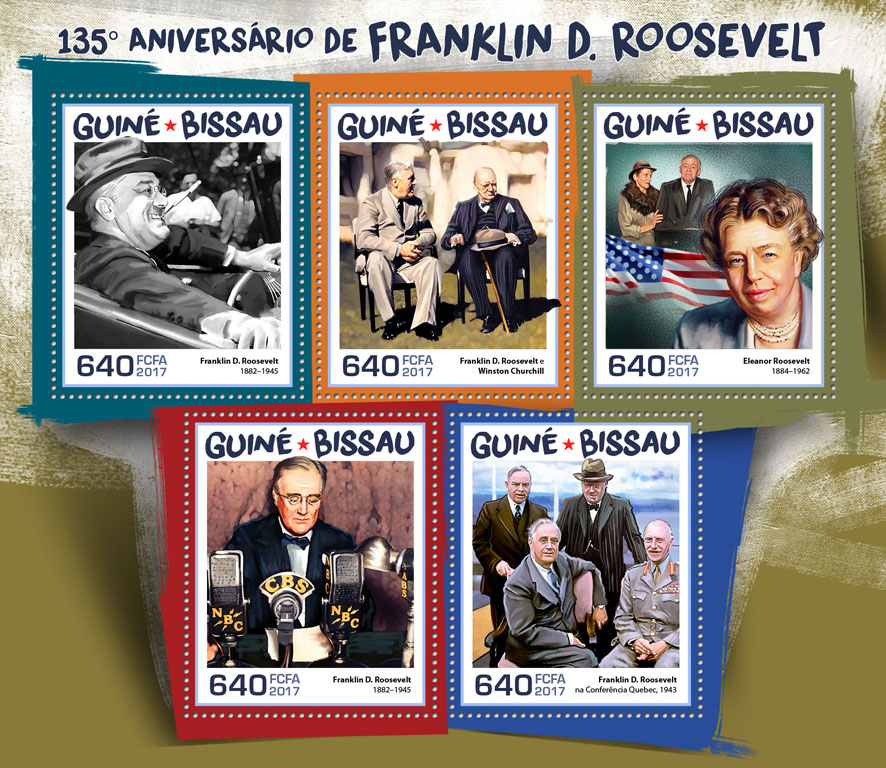 Franklin D. Roosevelt - Issue of Guinée-Bissau postage stamps