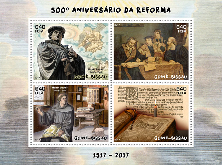 Reformation - Issue of Guinée-Bissau postage stamps
