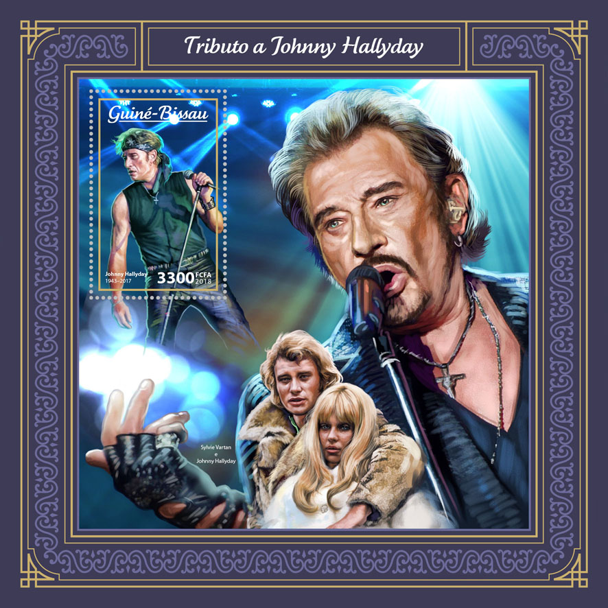Johnny Hallyday - Issue of Guinée-Bissau postage stamps