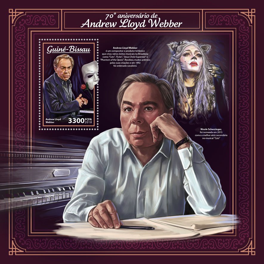 Andrew Lloyd Webber - Issue of Guinée-Bissau postage stamps