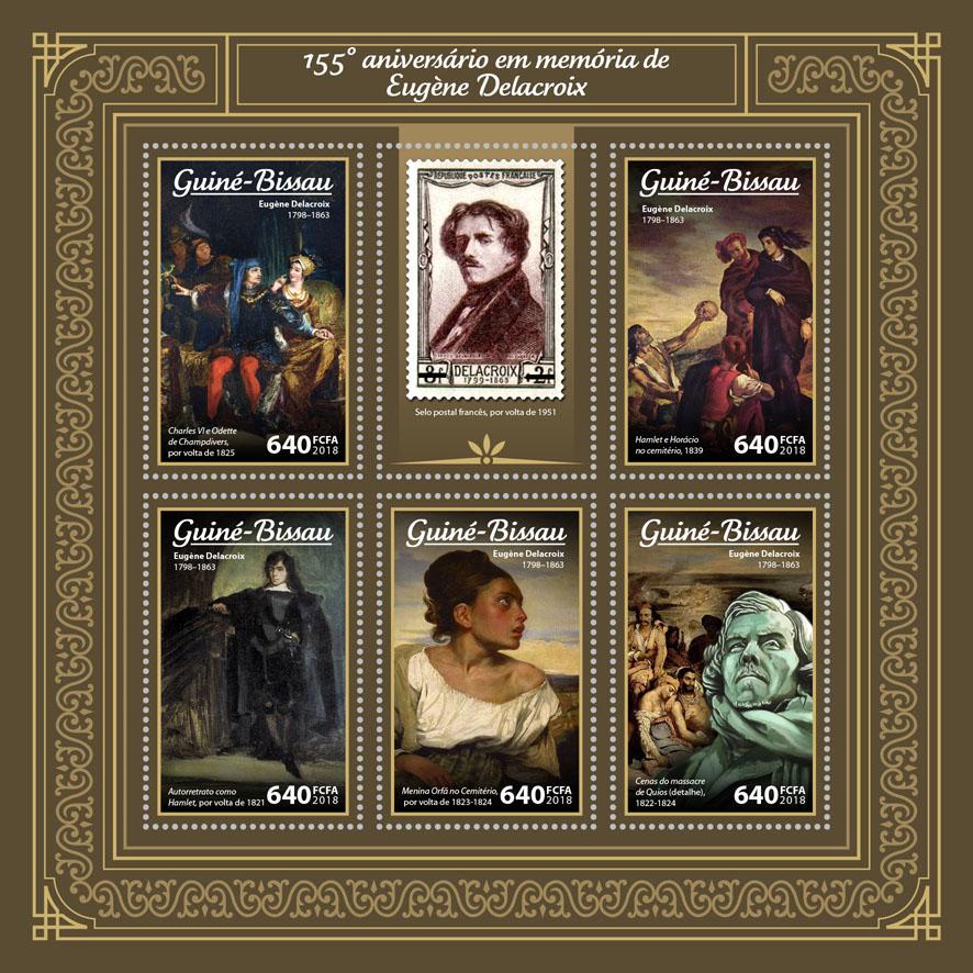 Eugène Delacroix - Issue of Guinée-Bissau postage stamps