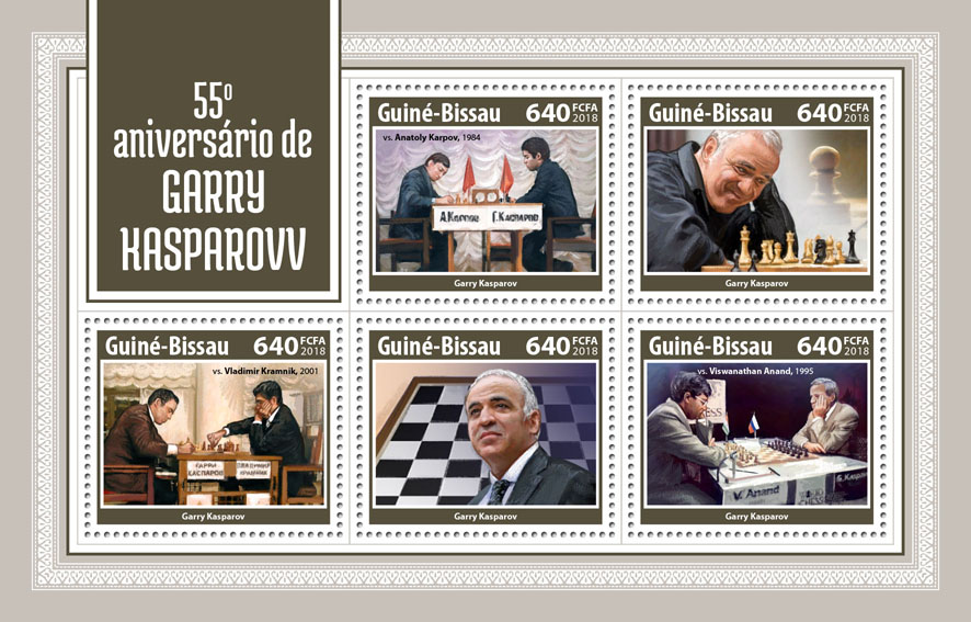 Garry Kasparov - Issue of Guinée-Bissau postage stamps