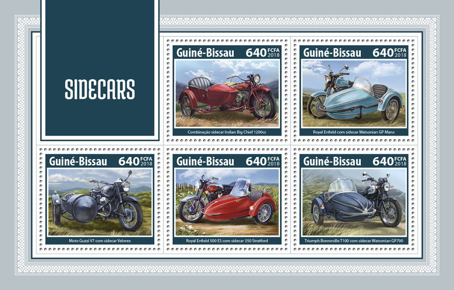Sidecars - Issue of Guinée-Bissau postage stamps
