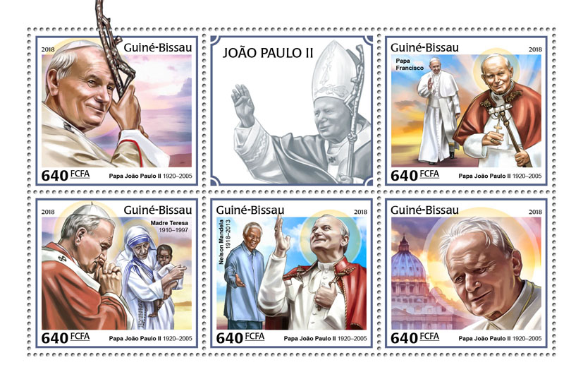 John Paull II - Issue of Guinée-Bissau postage stamps