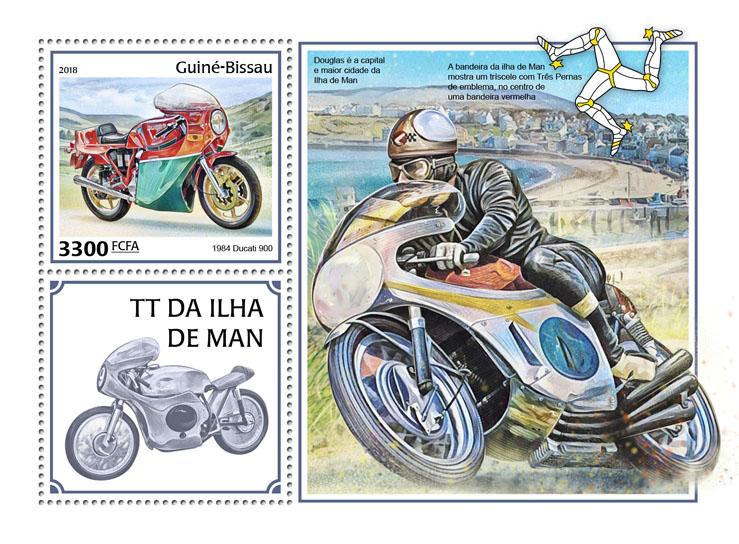 Man TT Race - Issue of Guinée-Bissau postage stamps