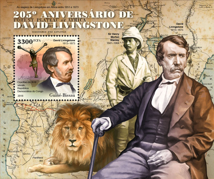 David Livingstone - Issue of Guinée-Bissau postage stamps